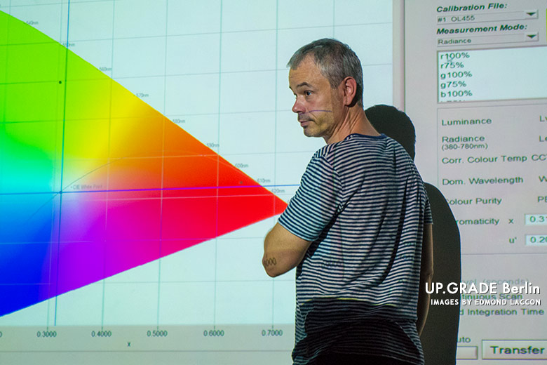 Harald Brendel designer of the ARRI Alexa sensor lectures on colour science at Up.Grade